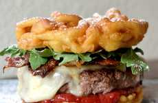 20 Decadent Burger Desserts - From Funnel Cake Burgers to Deceptive Fast Food Macaroons