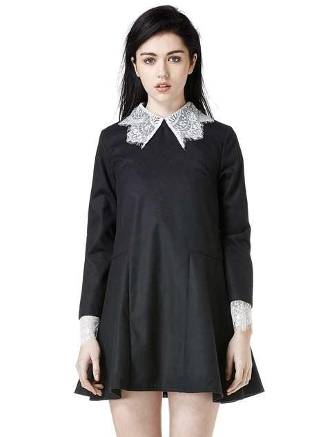 Spooky Recluse Apparel - UNIF's Doll Dress Pays Homage to Wednesday Addams