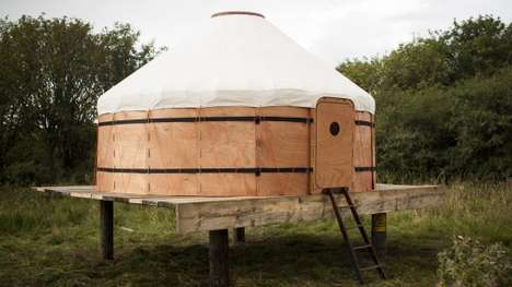 Compact Portable Tents - The Central Asian-Inspired Jero Yurt Can Be Transported in a Car