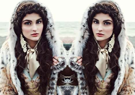Seaside Siberian Editorials - Glassbook Magazine's Cold Water Exclusive Highlights Luxe Winterwear
