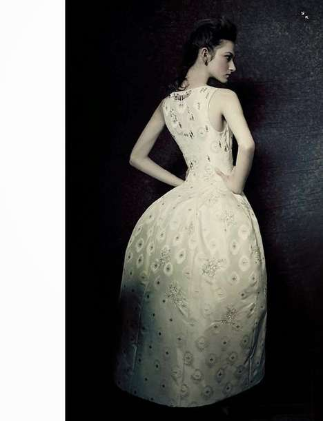 Bizarre Ball Gown Editorials - The Vogue Italia It's All About Uniqueness Photoshoot is Formal