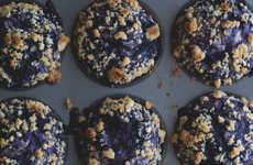 Marbled Fruitcake Desserts - Honestly Yum's Blueberry Swirl Muffins Are a Tasty Morning Treat