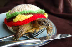 Cheeseburger Tortoise Cozies - This Stylish Burger Cozy is Sure to Keep Your Pet Turtle Warm