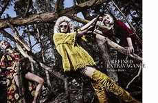 Haute Tree Hanging Photoshoots - The Vogue Italia A Refined Extravagance Editorial is Youthful