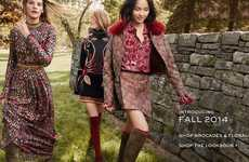 Frolicking Fashion Campaigns - The Tory Burch Fall/Winter 2014/2015 Advertisements Feature Hijinks