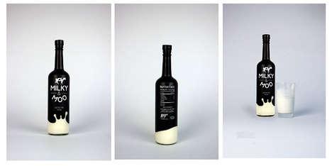 Wine Bottle Milk Packaging - Milky & Moo Looks More Like an Alcoholic Beverage Than Milk