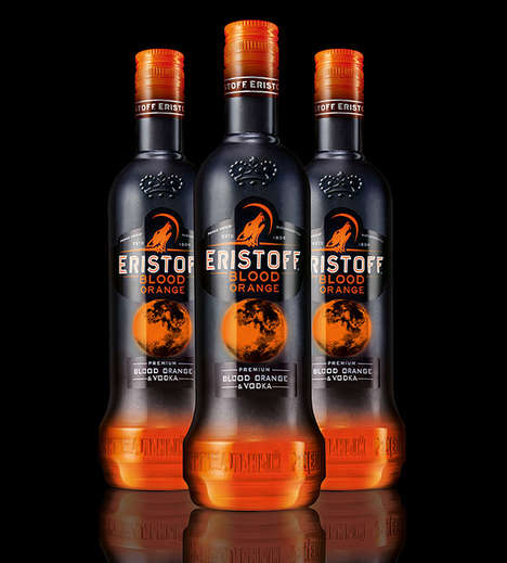 Vibrant Vodka Branding - The Eristoff Blood Orange Design is Bold