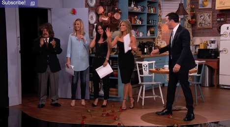 Sitcom Scene Revivals - This Miniature Friends Reunion Took Place on Late Night with Jimmy Kimmel