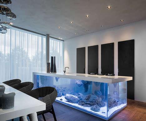 21 Contemporary Aquariums - From Aquarium Kitchen Islands to Stunning Live Fish Furniture