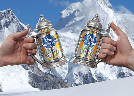 Beer Can Steins - The Can-in-Stein Turns Any Boozy Can into a Vintage Beer Stein