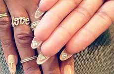 Bizarre Reverse Manicures - These Flip Manicures Find a Clever Use For Waste Nail Real Estate