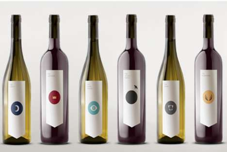 70 Wine Packaging Designs - From Embroidery Wine Bottles to Droplet Wine Branding