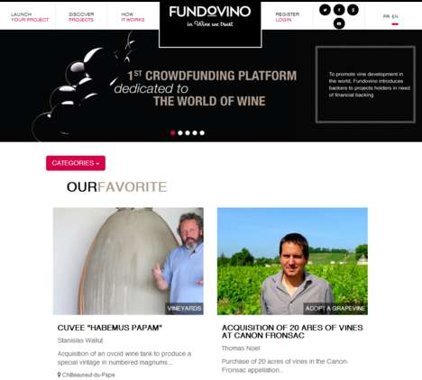 Wine-Focused Funding Platforms - Fundovino is a Crowdfunding Site Dedicated Solely to Wine Projects