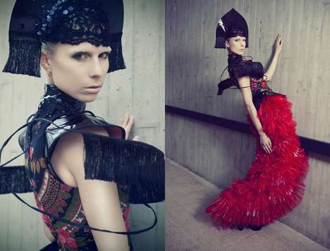 Extravagant Cyborg Editorials - Glassbook Magazine's Avante Garde Story Visually Translates the Term