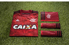 Plant-Inspired Soccer Shirts - The New Flamengo Jersey Bears Red Forest Silhouettes