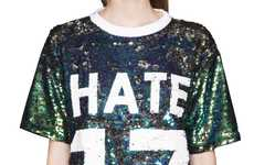 Festive Pessimist Apparel - Pixie Market's Varsity Boyfriend Tunic Boasts the Word 'Hate'