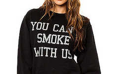 Stoner Film Sweaters - The You Can't Smoke With Us Crewneck Offers a Cheeky Nod to a Cult Classic