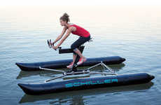 Floating Bike Designs - The X1 Water Bike by Schiller Sport Offers a New Form of Exercise