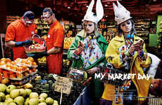 Eccentric Supermarket Editorials - Vogue Japan's My Market Day Story is Styled by Anna Dello Russo