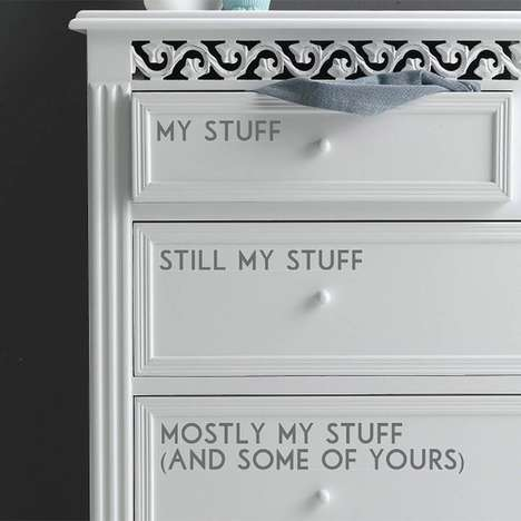 Personalized Drawer Decals - Customize the Look of Your Closet With these Adhesive Drawer Stickers