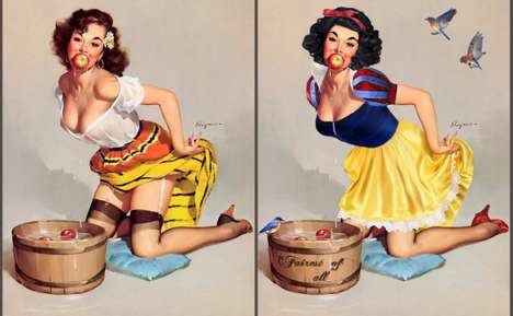 Disney Princess Pin-Ups - DeviantART User KittRen Transforms Disney Characters into Sultry Vixens
