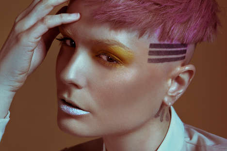 Vanguard Punk Editorials - Glassbook Magazine's Shine On Image Series Highlights the Pink Pixie Coif