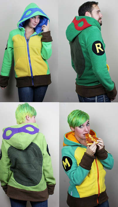 Comfy Turtle Hoodies - These Teenage Mutant Ninja Turtle Cosplay Hoodies are Perfect for Fall