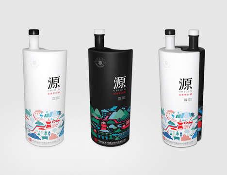 Balanced Yin-Yang Bottles - Origin's Yin Yang Bottle Design is All About Harmonious Opposites
