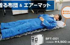 Wearable Futon Apparel - King Jim's Puffy Polyester Suit is Equipped with Bedding and Padding