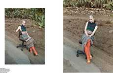 Aesthetic Agricultural Editorials - The Pop Magazine Grimes Photoshoot Showcases Pastoral Backdrops