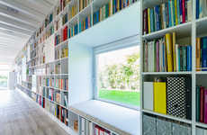 Endless Bookshelf Residences - This Stunning Home Features a 17-Meter Library Wall