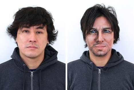 Cosmetic Celeb Cosplay - Artist Hikaru Cho Turns Regular Guys into Hollywood Stars Using Makeup
