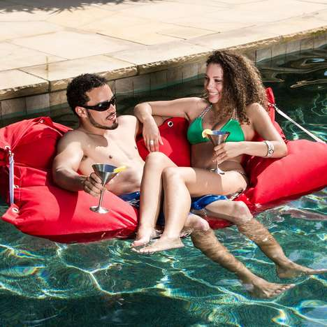 Romantic Pool Floats - The Lanier Floating Loveseat is Perfect for Couples to Lounge on