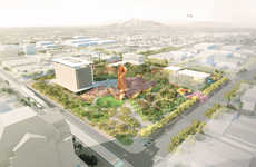 Copper-Focused Public Squares - West 8 Presents an Idea for the Mesa City Center