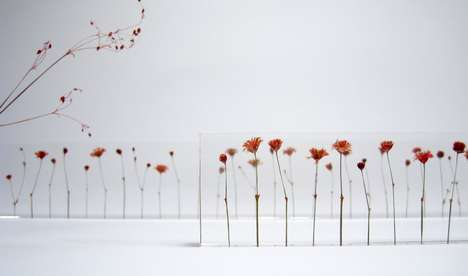 Botanical School Supplies - The  F,l,o,w,e,r,s Acrylic Ruler Takes Measurements with Its Stems