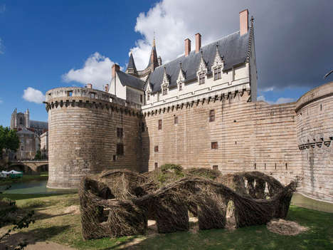 Stick-Made Castles - Patrick Dougherty Creates a Less Extravagant Place for the Queen
