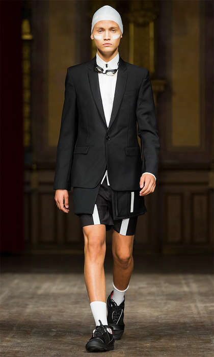 Formal Swimmer Apparel - Erik Bjerkesjo's Latest Runway Show is Inspired by Sporty Swimwear