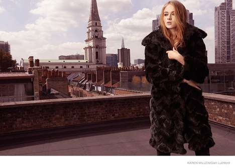 Medieval Starlet Campaigns - The Karen Millen Fall 2014 Campaign Features GoT Actress Sophie Turner