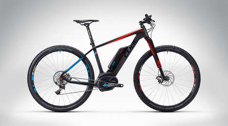 Lightweight Electric Mountain Bikes - The Cube 'Elite Hybrid HPC SLT 29' is an Award-Winning Design