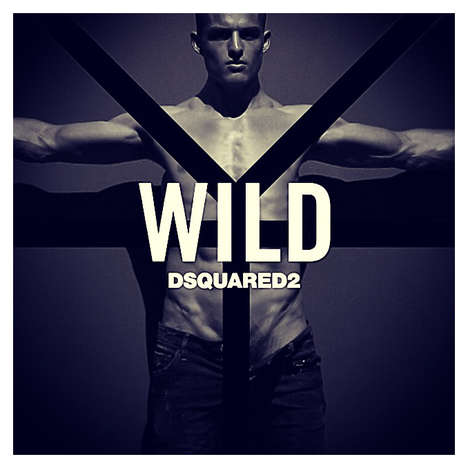 Atypically Angular Fragrance Campaigns - The Dsquared2 WILD Silvester Ruck Advertisements Are Sharp