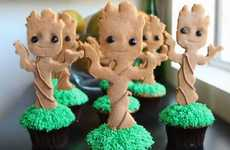 Extraterrestrial Tree Cupcakes - These Adorable Groot Cupcakes Celebrate the Guardians of the Galaxy
