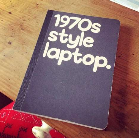 Mock Laptop Notebooks - This Funny Notebook Poses as a Computer from the 70s