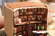Little Library Cakes - Kathy Knaus' Book Cake Takes the Shape of a Miniature Library