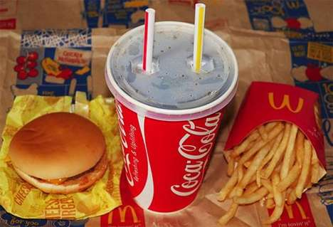 Dual Straw Drinks - McDonald's Japan's Large Soda Drink Demands Sharing with Two Straws