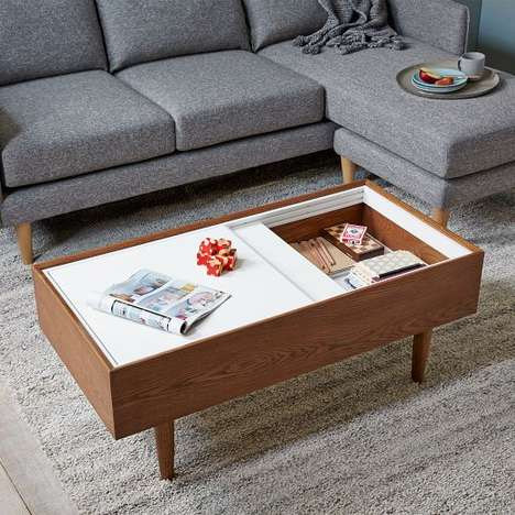 Elegantly Organized Furnishings - West Elm's Double Storage Coffee Table Saves Space in Style