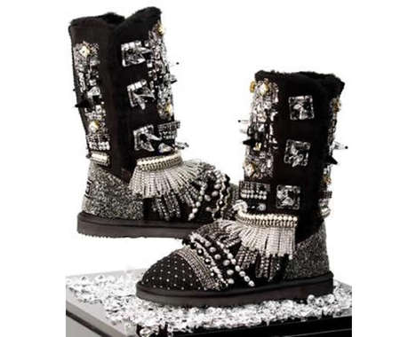 Cozy Bedazzled Boots