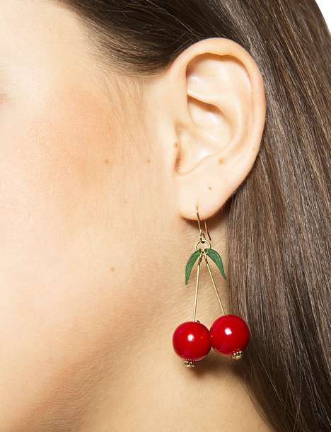 Fashionable Fruit Accessories - Pixie Market's Cherry Earrings are a Fresh Blast from the Past