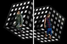 Illusionary Op Art Advertorials - Laetitia Hotte Neon Series Highlights Kenzo's Latest Collection