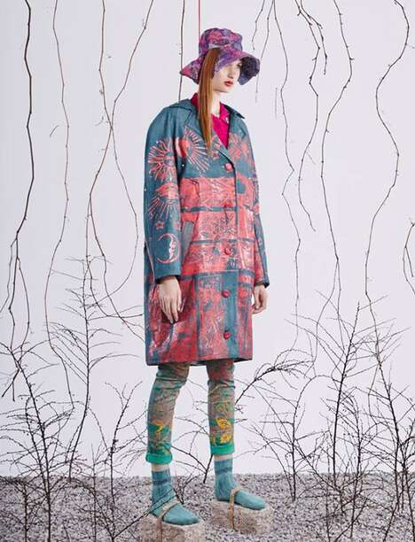 Artfully Ethnic Attire - Odio Tees and Jakub Pieczarkowski Create Visually Abstract Couture
