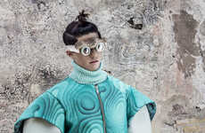 Sculptural Futurism Editorials - The Collector Fashion Story Highlights Pieces from Martin Across